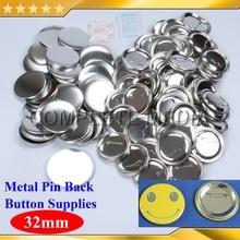 """200 наборов 1-1/"""" 32 мм контактный задний металлический значок материалы для блях для профессиональных всех стальных производитель значков"""