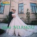 Oumeiya новое поступление лодка шея от плеча три четверти рукава свадебное платье собора-царского поезда роскошные свадебные платья
