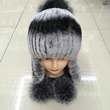 2016 new women Rabbit wool warm winter hat ear