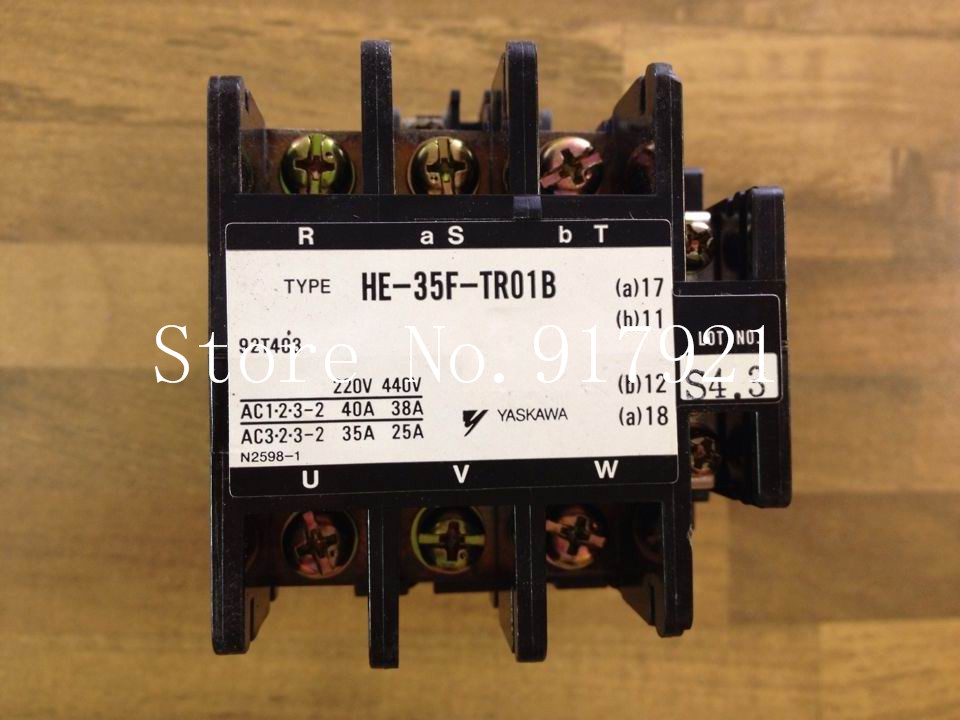 [ZOB] YASKAWA Japan Yaskawa HE-35F-TR01B contactor 220V38A 92T403 original is the mouth --2pcs/lot [zob] japan s yaskawa h1 7e5ns 220v 4a 20a yaskawa ac contactor genuine original 3pcs lot