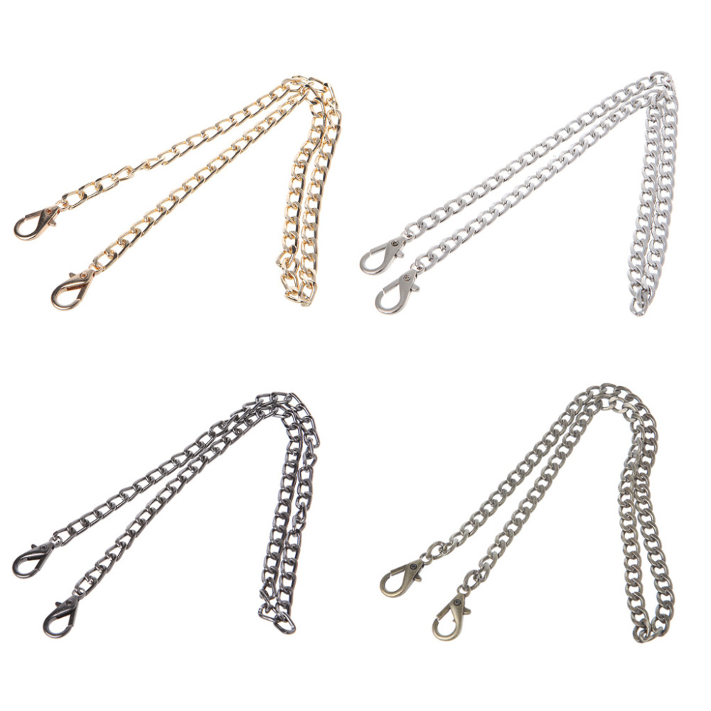 THINKTHENDO Long 40cm Luxury Fashion Metal 4 Color Strap Chain For Shoulder Cross Body Bag Handbag Purse Strap Accessories