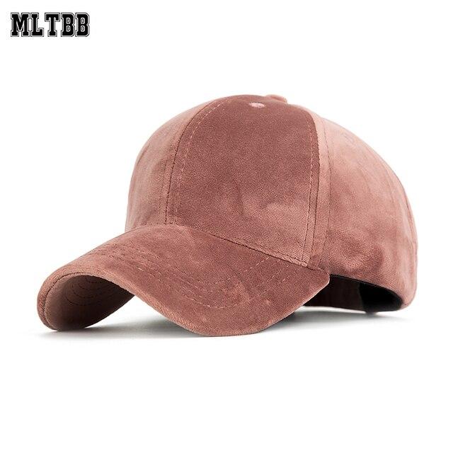 2e049dbdc US $5.79 45% OFF|MLTBB 2019 Velvet Baseball Cap Women Brand Snapback Caps  For Men Spring Hip Hop Flat Hat Female Unisex Casquette Bone Hats -in ...