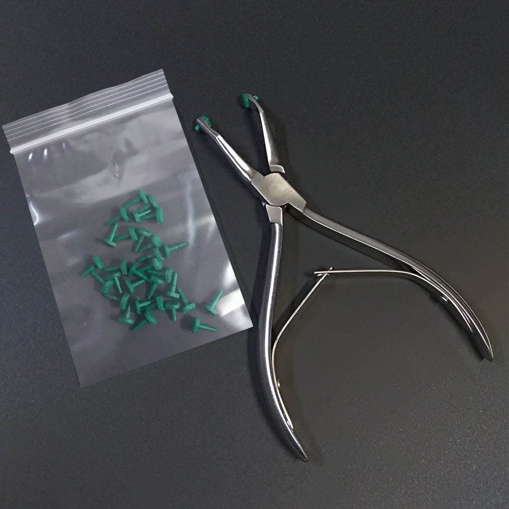 1 set (1 Pliers + 15 Pairs of Rubber Pads) for Dental Crown Removing 6