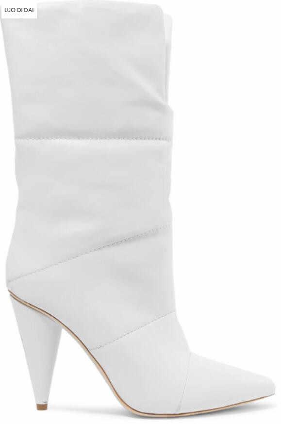 blanches femmes talons bout bottines 2019 à sans chaussures de lacet chaussures pointu bottes habillées pointu talon bottes bottines hauts fête mode m8Nn0w