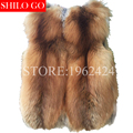 Plus size free shipping 2017 autumn winter new fashion women high quality super warm natural color red fox fur long fur fur vest