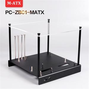 DEBROGLIE MATX алюминиевый кронштейн материнской платы DIY лоток дисплей M-ATX платформа с верхней/2 шт. Перезагрузка переключатель для ПК компьютера