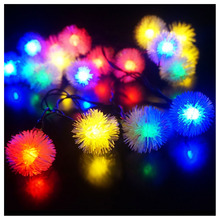 LED 4.8m 20 LED Solar Outdoor String Fairy Lights Snowball Solar Powered for Outside Garden Patio Party Christmas Colorful