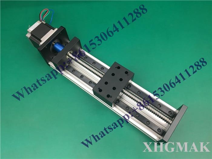 High Precision GX80*50mm Ballscrew 1605-1000mm Effective Travel+Nema 23 Stepper Motor Stage Linear Motion single block su gx 5s r