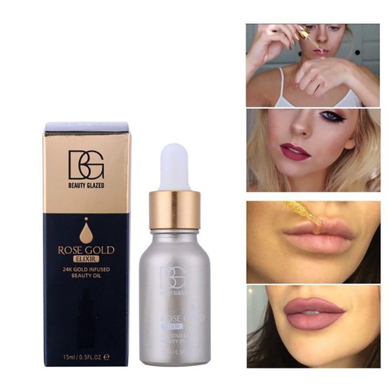 BEAUTY GLAZED Brand 24K Rose Gold Elixir Radiating Base Makeup Moisturizer Face Care Essential Oil Make Up Primer base maquiagem