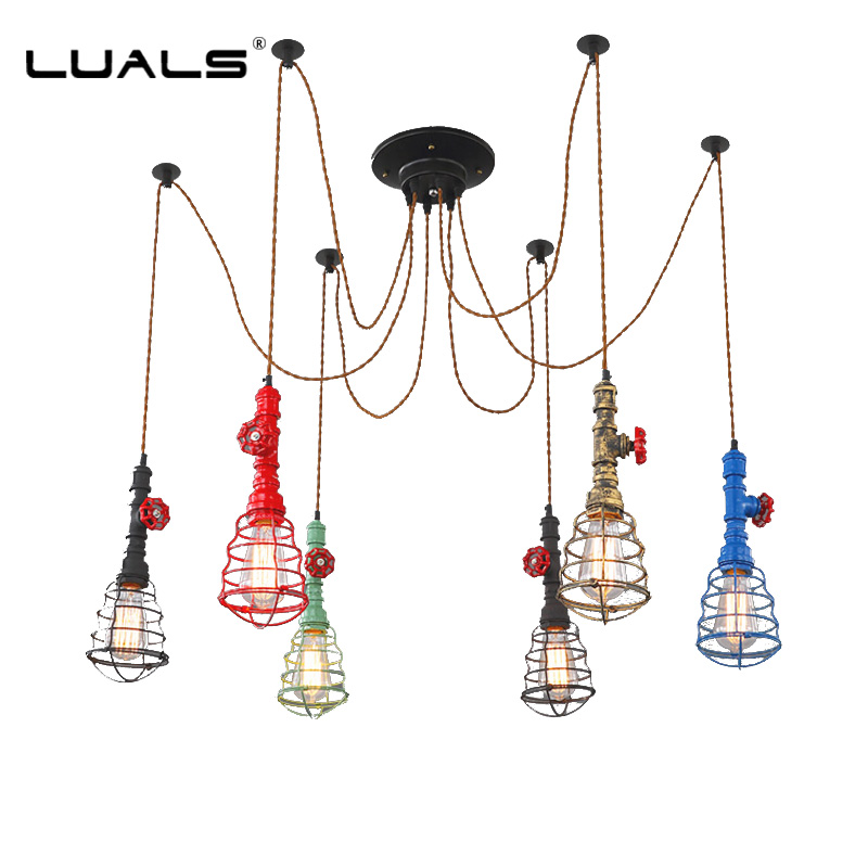 Loft Pendant Lamp American Retro Pendant Light Creative Iron Industrial Style Pendant Lighting For Bar Edison Bulb Light Fixture 2 pcs loft retro light rusty color hanging lamp cafe bar pendant lights creative edison lamps industrial style pendant lighting