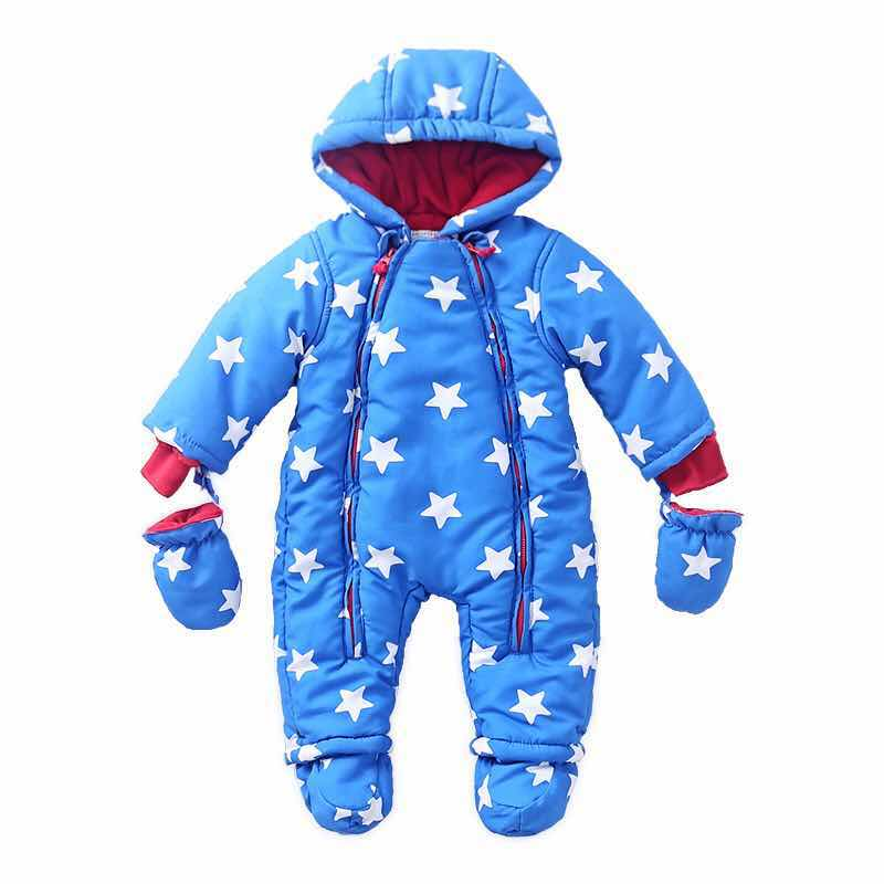 Autumn & Winter Baby Clothes Infant One Piece Baby Rompers Fleece Clothing Baby Snowsuit Cotton padded Babe Overalls 6-24M cotton baby rompers set newborn clothes baby clothing boys girls cartoon jumpsuits long sleeve overalls coveralls autumn winter