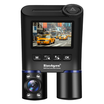 Blueskysea B2W Dual Lens WIFI DashCam for Uber Lyft Taxi Night Vision Car Camera Full HD1080P DVR Recorder Rear View Dash Camera