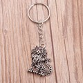 10Pcs Antique Silver Jewelry Key Chain, New Fashion Metal Key Chains Accessory ,Vintage Lion Key Rings DIY Jewelry Z1994
