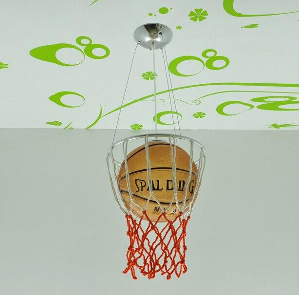 Hghomeart enfants pendentif LED lumières basket-ball académie lumières bande dessinée chambre d'enfants chambre lampes éclairage - 3