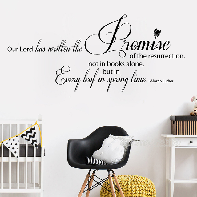 Martin Luther Quote Our Lord Has Written Wall Stickers Christian ...