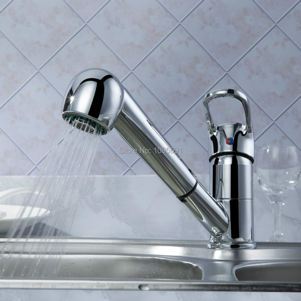 MAIDEER Contemporary brass Kitchen Sink Faucet Single Handle Single ...