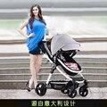 Sol crianças stroller alta paisagem two-way pode se sentar e deitar o choque do bebê carrinho de criança dobrável carrinho de bebê