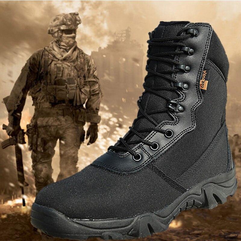 Botas de Trekking Sapatos do Exército dos Homens Caminhadas ao ar Militar Tático Homem Acampamento Escalada Esportes Caça Preto Livre Tênis