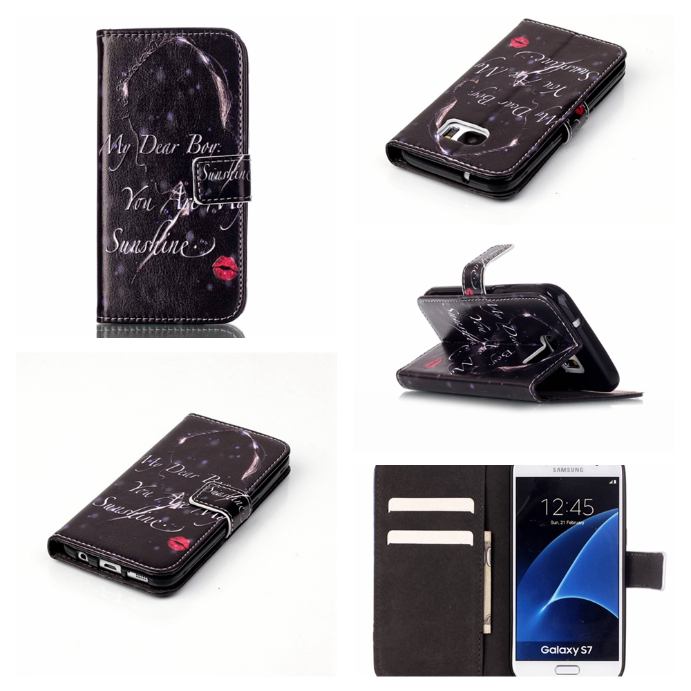 Etui For Galaxy S7 Phone Case Luxury PU Leather Flip Case For Samsung Galaxy S7 G9300 Card Slot Cover Mobile Phone Accessories