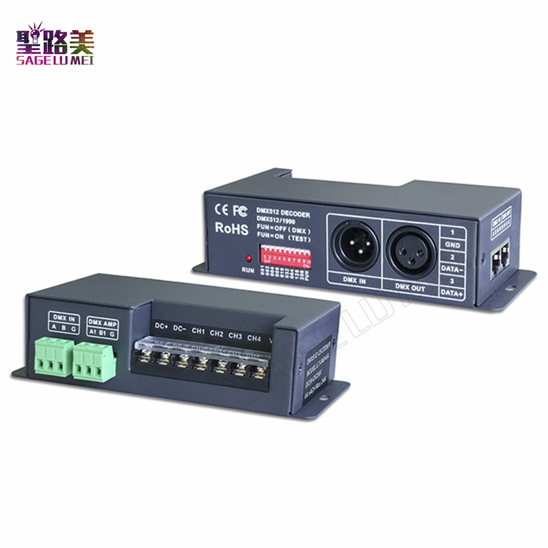 LT-840-6A;DMX/RDM 4CH CV constant voltage decoder;DC5V-24V input;6A*4CH 4 channel output For RGB RGBW led lamp light Free ship led constant voltage dmx pwm decoder dimmer lt 820 5a 8 16 bits optional oled display 4channel 5a 4channel max 20a output