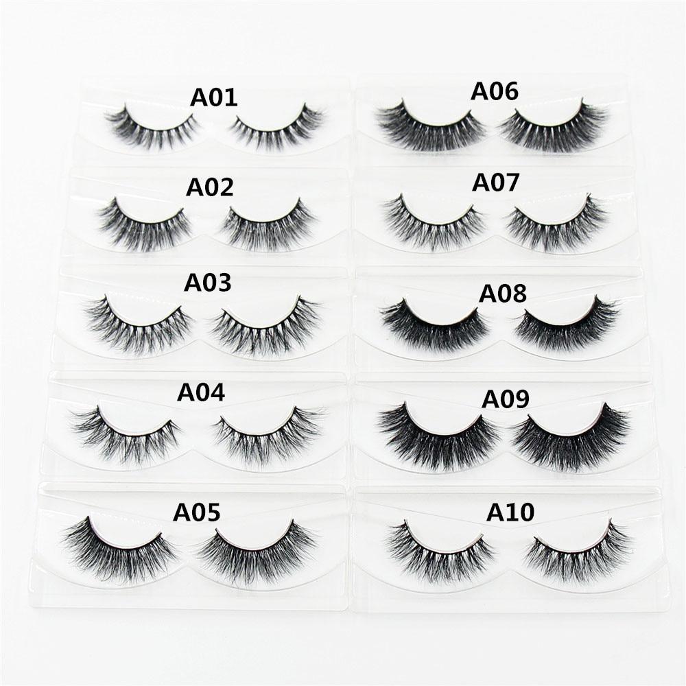 443423457d4 AMAOLASH 1 pair 3D Handmade Mink Eyelashes individual Natural Long False  Eyelashes Makeup fake Eye Lashes