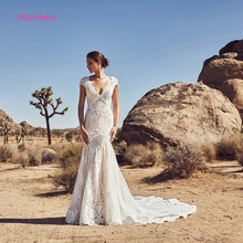 Luxury Vintage lace Wedding Dress 2019 V-neck backless