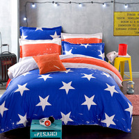 New High Quality Cotton Bedding Set Of Stars And Stripes Duvet Cover Queen The Nordic Style