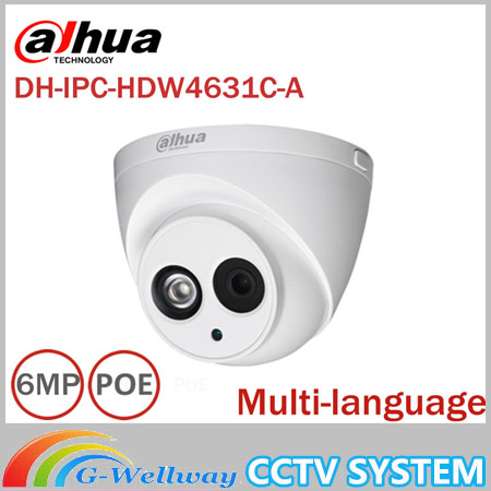Dahua IPC-HDW4631C-A metal shell 6MP Built-in MIC POE IR 50m IP67 IK10 ip camera replace IPC-HDW4431C-A CCTV camera dahua 6mp ip camera ipc hdw4631c a poe network camera with built in micro upgrade model of 4mp camera ipc hdw4431c a