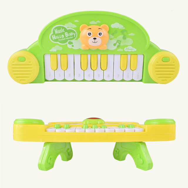 Electric Cartoon Animal Mini Keyboard 10 Keys Piano Baby Playing