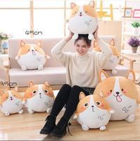 65cm Cute corgi dog cute puppy Stuffed Plush Toy Doll Pillow round cushion winter pillow birthday gift