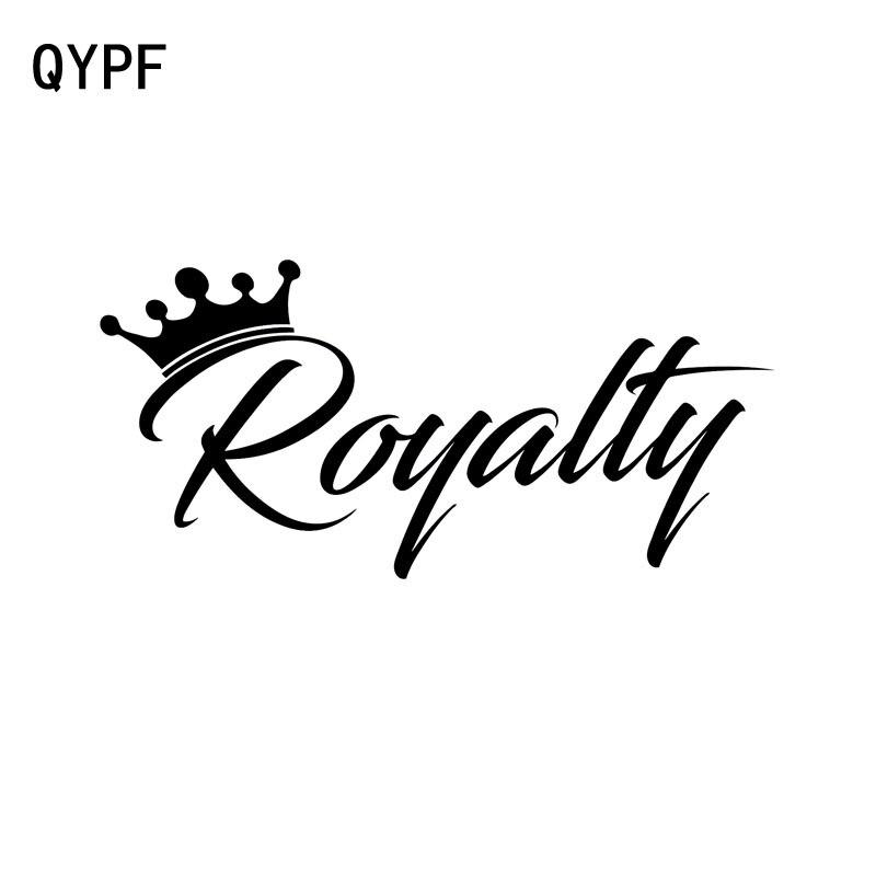 QYPF 15cm*7cm Funny ROYALTY Written Words Vinyl Car Sticker Decal Black/Silver Accessories C15-0004