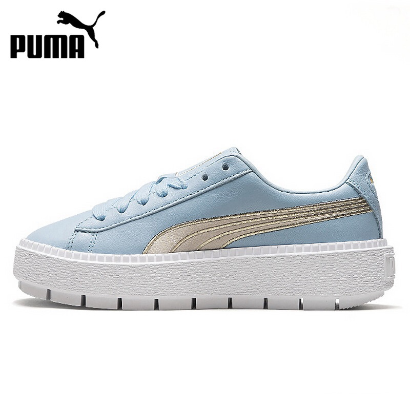 Original New Arrival 2018 PUMA Platform Trace Varsity Women's  Skateboarding Shoes Sneakers