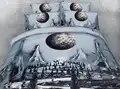 Erstaunliche 3d print design bettwäsche set königin größe twin voll könig cal könig größe bett abdeckungen paar gentleman jungen schlafzimmer decor greey