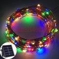 10 М 100 LED Солнечный СВЕТ Зарядное Устройство Лампы Свет Сада Solaris панель Медной Проволоки Свет Строка Открытый Фея Лампа Для Свадьбы рождество