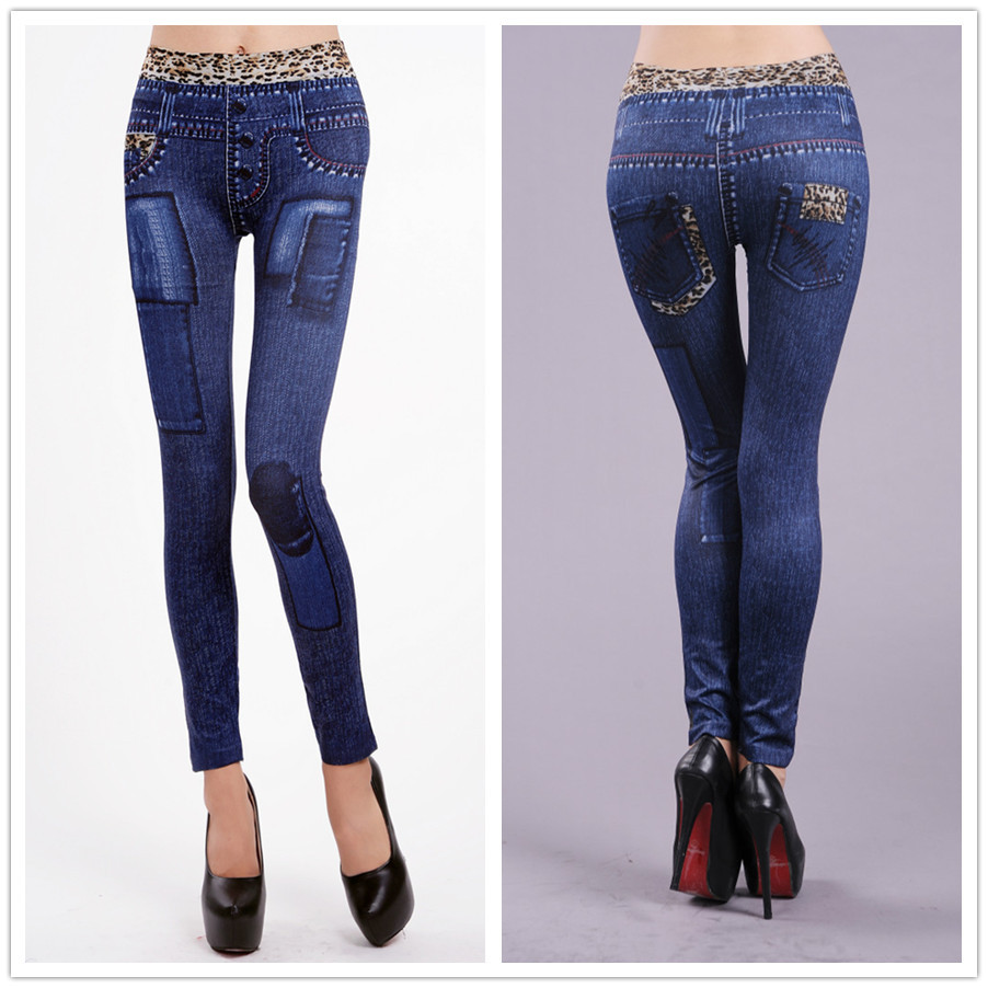 Leopard Print Women's Jean's Leggings - One Size Fits All - Blue or Black - image HTB11VpkX_ZRMeJjSspkq6xGpXXaf on https://awesomeleggingstore.com