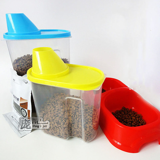 Plastic Pet Dog Feeder Storage Food Container Mildew Anti Oxidation Large  Capacity Storage Fresh Box
