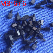 M3*6+6 1 pcs Black Nylon Standoff Spacer Standard M3 Male-Female 6mm Standoff Kit Repair Set High Quality PC tool