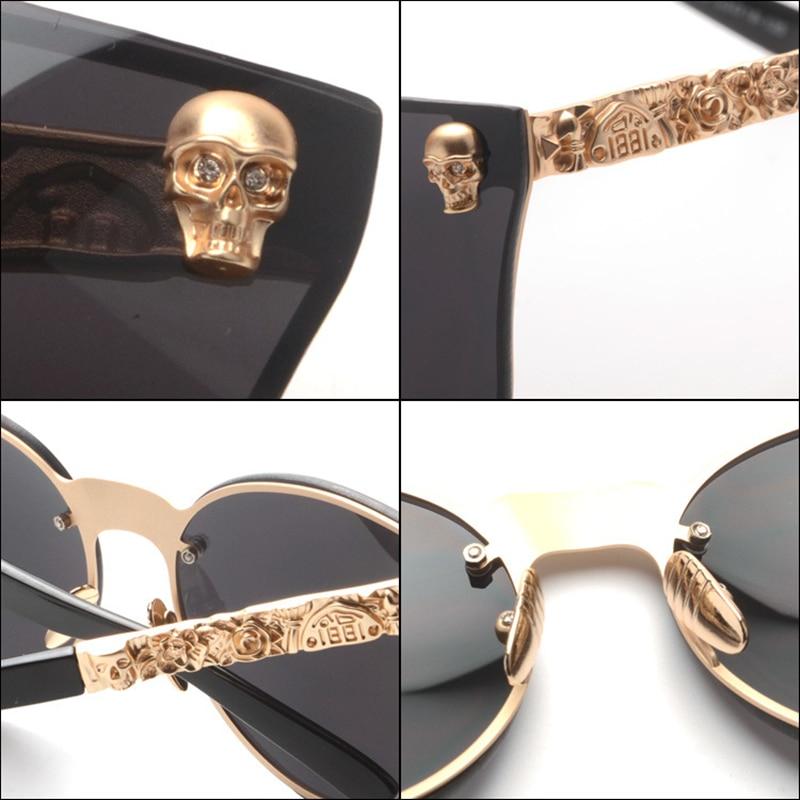 2017 nueva moda oval para mujer marca gafas de sol de lujo oculos - Accesorios para la ropa - foto 6
