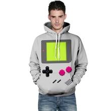 Harajuku 3D Print Games Console Sweatshirts Fashion Long sleeve with hat Women PlayStation Hoodies Cartoon Hoody Hooded Pullover