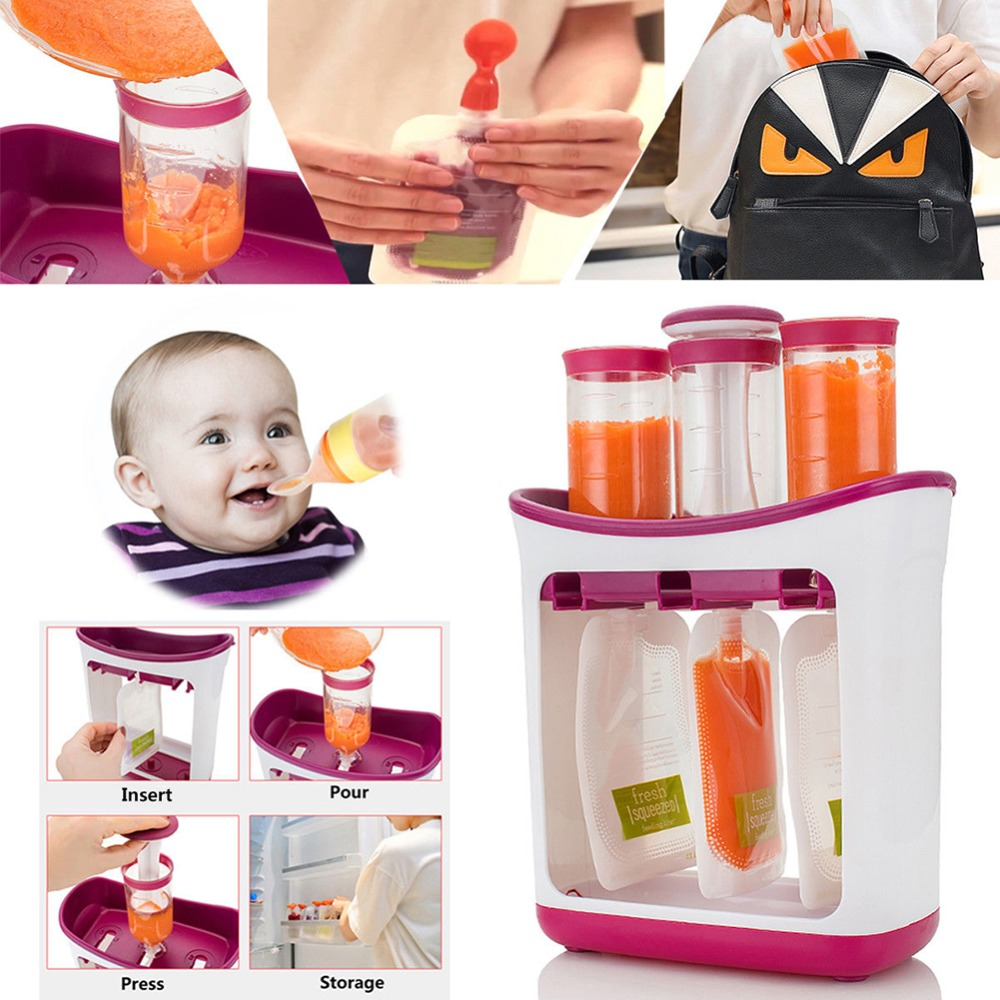 Infant Baby Feeding Food Squeeze Station Toddler Fruit Maker Dispenser Homemade Food-grade wnth 10 Pouch #281642 Infant Baby Feeding Food Squeeze Station Toddler Fruit Maker Dispenser Homemade Food-grade wnth 10 Pouch #281642