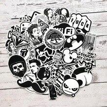 SLPF дети 60 шт. личности водонепроницаемый мультфильм Черный Белый Скейтборд багаж тележка кузова граффити наклейки Горячая игрушка H08