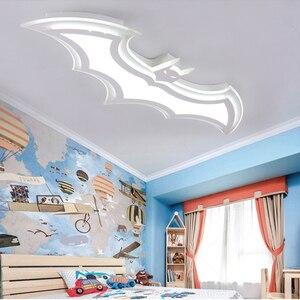 Image 4 - Kids Room Lamp Batman Led Chandeliers Childrens Room Bedroom Acrylic Modern Spot Ceiling Decor Home Lustre