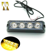 4 Watt 12v Vehicle Mini Compact Surface Mount Directional Strobe Lighthead All Emergency Vehicle And Led