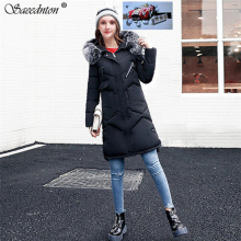 Winter Jacket Women Thick Warm Hooded Parka Mujer Down Cotton Padded Coat Long Paragraph Plus Size 3XL Slim Jacket Female Coats цены онлайн