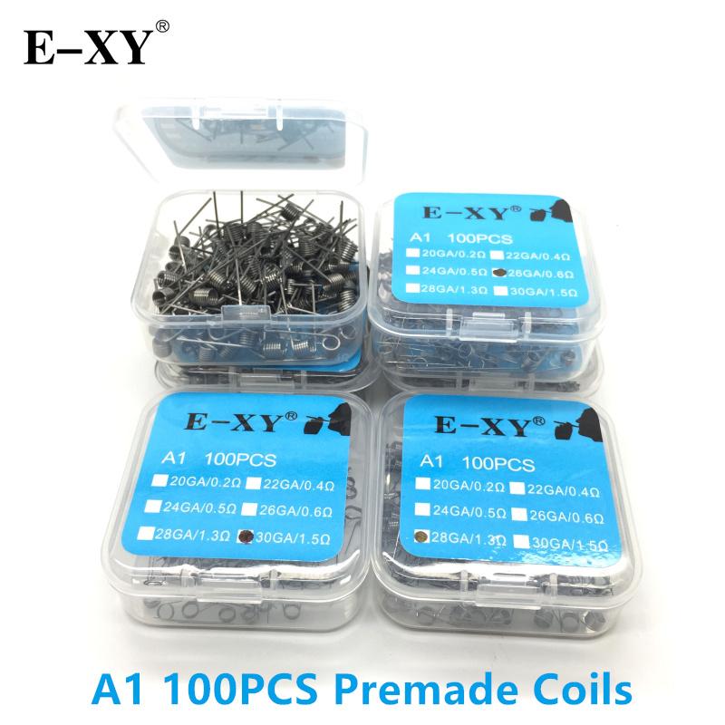 E XY 100pcs/Pack A1/SS316/Ni80 Coil Wire Coiling Prebuilt Coil ...