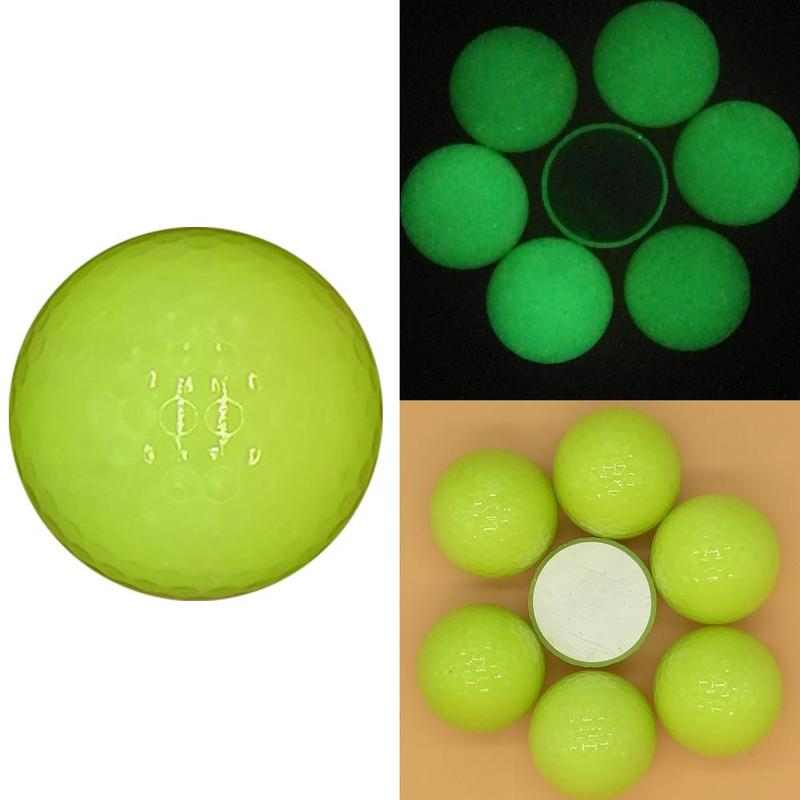 42cm Luminous LED Golf Ball Light-up Flashing Night Light Glowing Fluorescence Golf Balls Golfing Practice Ball