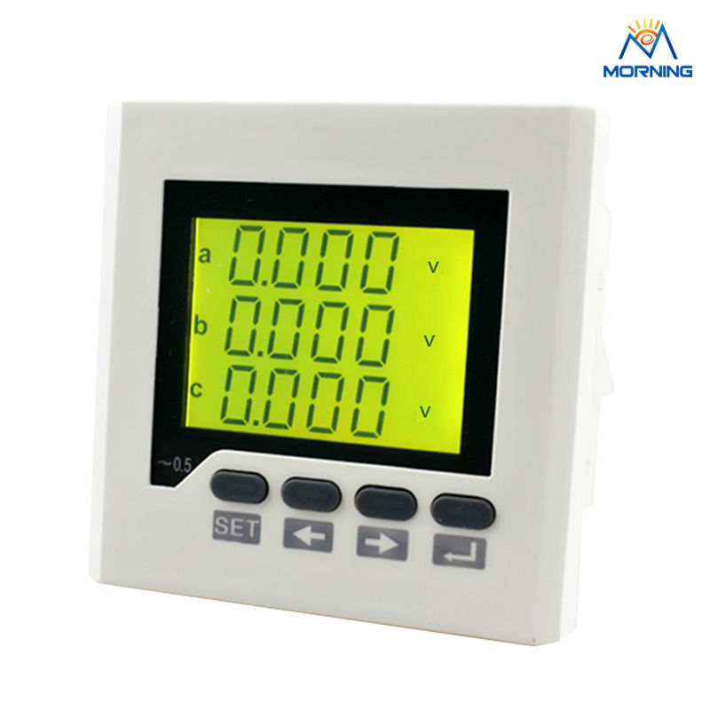 3AV7Y panel size 80*80mm factory price 3 phase digital voltmeter,3 lines LCD display electric instrument fortisflex ксс 3 80