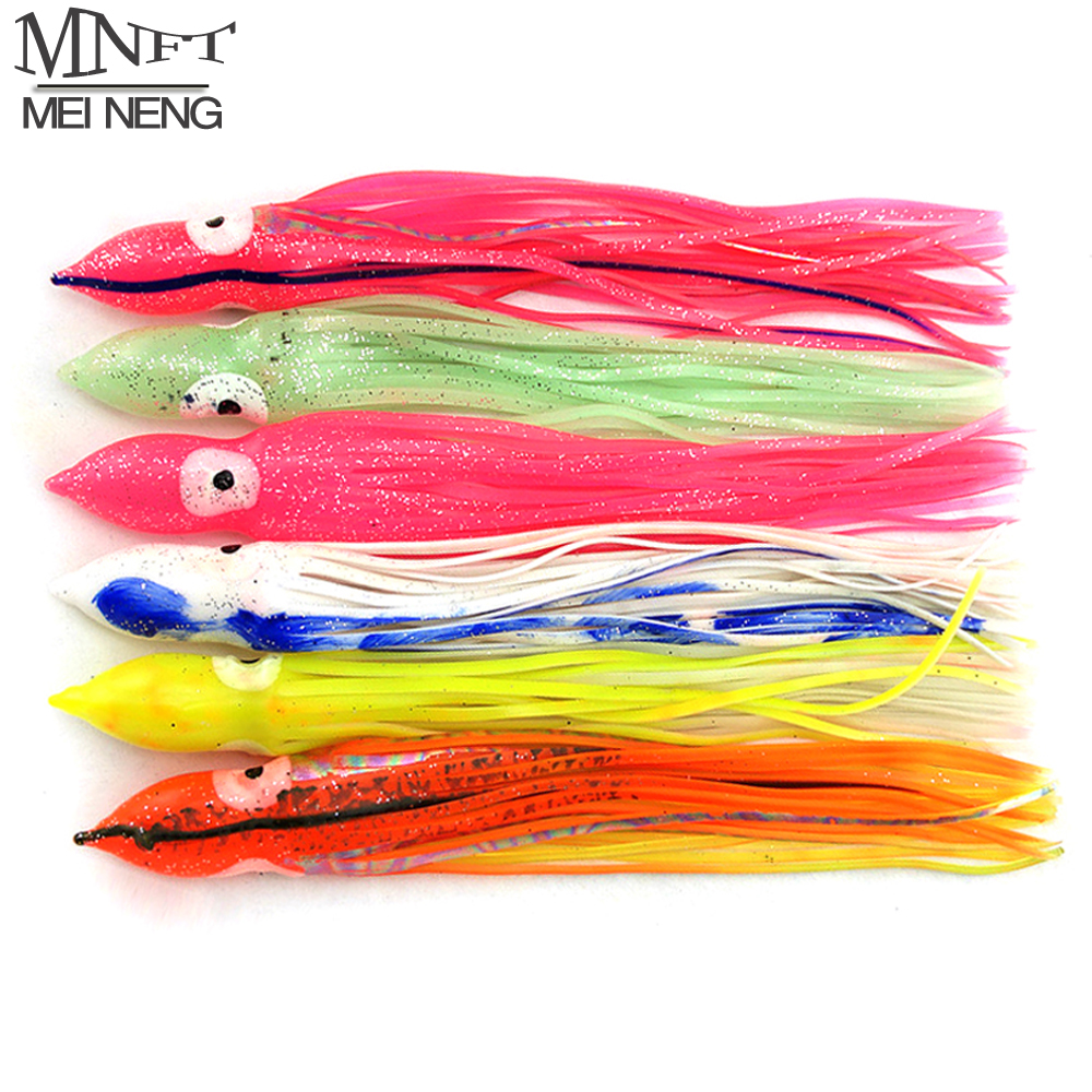 MNFT 2 Pcs/lot 20-24cm Octopus Lure Squid Jig Fishing Soft Lures Big Squid Bionic Bait Skirt Sea Fishing Tackle Random Mix Color 1pcs big sea fishing lure 140cm 42g squid lure wobbler jigs fishing lures for trolling bionic squid minnow artificial hard bait