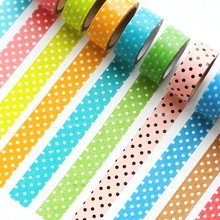 candy polka dots masking tapes, DIY photo stationery decoration tape purple/yellow/red/brown/green