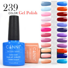 #30917 CANNI Soak Off Nails Gel Supplier New 239 Colors Nail Gel Polish Bling Glitter Gel UV LED Soak Off Gel